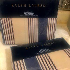 Ralph Lauren NWT Saranac Peak Queen Flat Sheet